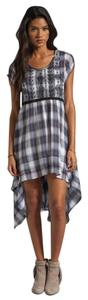 Free People short dress Blue Plaid High-low on Tradesy