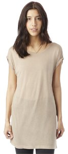 Alternative Apparel Flowy Silky Comfortable Weekend Sexy T Shirt natural