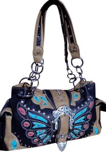 Other Front Flap Chain Sparkle Animal Print Faux Tote in Multi-Colored