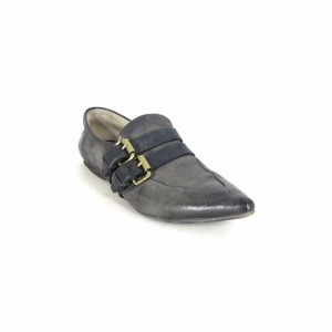 A.S. 98 Leather Loafer Versatile Gray & Black Flats