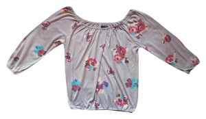 American Eagle Outfitters Singed Floral Top Grey
