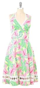 Lilly Pulitzer Butterfly Eyelet Halter Lilly Dress