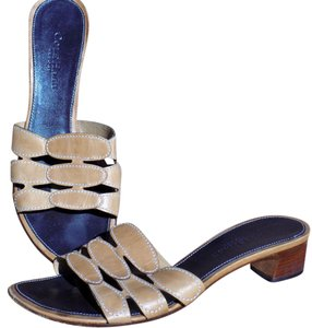 Cole Haan Signature Classic Boho Leather Strappy Taupe Sandals
