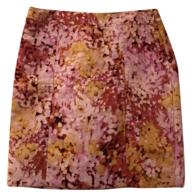 Ann Taylor LOFT Pink Yellow and Magenta Floral Pencil Skirt Size 12 (L, 32, 33) Ann Taylor LOFT Pink Yellow and Magenta Floral Pencil Skirt Size 12 (L, 32, 33) Image 1