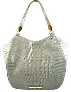 Brahmin Marianna Leather Silver Sage Melbourne Tote in Green