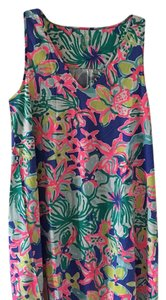 Lilly Pulitzer short dress blue, green, pink, yellow and white on Tradesy