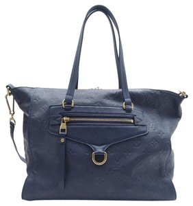 Louis Vuitton Lumineuse Pm Leather Satchel in Navy