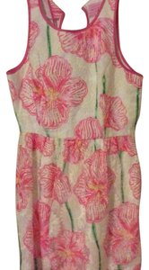 Lilly Pulitzer short dress White/Pink/Floral on Tradesy