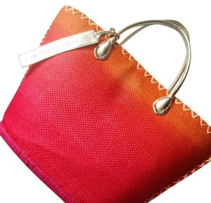 Victoria's Secret Pink, Orange, & Gold Beach Bag