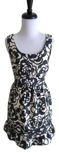 Juicy Couture short dress Black and White Metallic Floral Silk Sleeveless on Tradesy