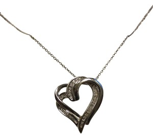 Macy's Diamond Double Heart Necklace