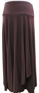 Aqua Summer Flowy Wrap Maxi Skirt Brown