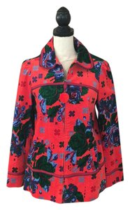 Anthropologie Red Blue Green Blazer