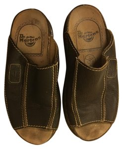 Dr. Martens Slide Leather Brown Mules