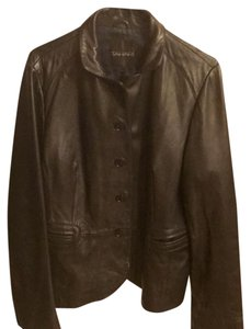 Tahari black Leather Jacket