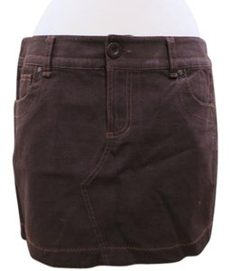 BCBGeneration Zig-zag Mini Summer Casual Mini Skirt Brown