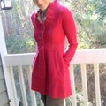 Anthropologie Raspberry Red Alice In Autumn Sweater By Charlie & Robin Coat Size 6 (S) Anthropologie Raspberry Red Alice In Autumn Sweater By Charlie & Robin Coat Size 6 (S) Image 8