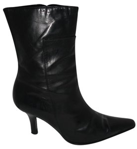 Fratelli Rossetti Leather Zipper Mid-calf Black Boots
