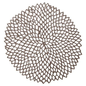 Chilewich Gunmetal / Silver Dahlia Placemats For Home Showers Parties Reception Decoration