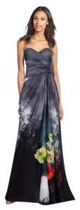 Adrianna Papell Multi Floral Gown Maxi Dress
