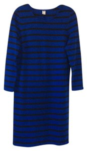 Old Navy short dress blue with black stripes on Tradesy