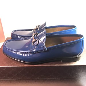 Gucci Collection Blue Royal Shade Lux Men Hosebit Royale Blue Flats