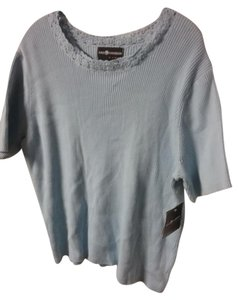 Sag Harbor Short Sleeve 100% Cotton Sweater