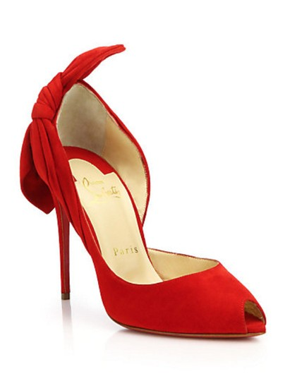 Christian Louboutin Red Suede Pumps