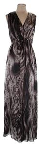 brown grey Maxi Dress by Magaschoni