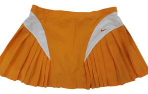 Nike Orange Pleated Tennis Skirt