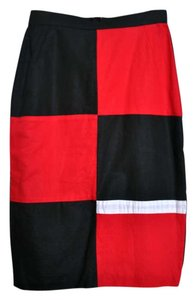 Minett Color-blocking Skirt Black, red, white