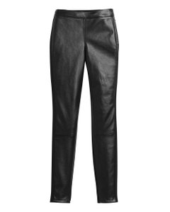 White House | Black Market Faux Leather Skinny Pants black
