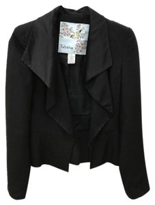 Anthropologie Tabitha Jacket Cascade Jacket Black Blazer
