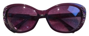 Coach Coach Purple Sunglasses with Crystals