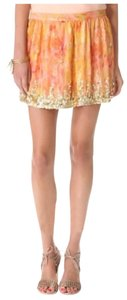 Haute Hippie Mini Skirt Orange, Gold, Yellow