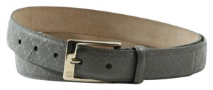 Gucci NEW GUCCI 345658 Unisex Diamante Leather Belt, Grey 105-42