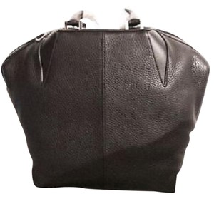 Alexander Wang Leather Pebbled Satchel in Black