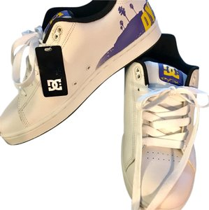 DC Shoes White, purple & yellow Athletic