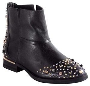 modern vice madge leather stud boots black Boots