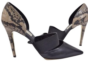 Stella McCartney Black, Tan Pumps