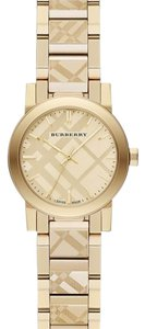 Burberry $452 with code NWT check etched bracket watch