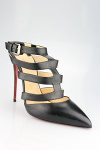 Christian Louboutin Tchikaboum Pointed Toe Strappy Slingback Cut-out Black Pumps