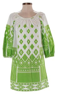 Tibi short dress green white on Tradesy