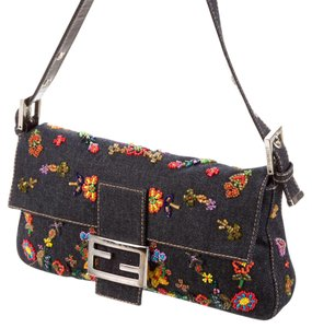 Fendi Sequined Special Edition Beaded Embroided Baguette
