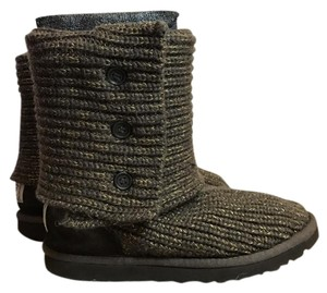 UGG Australia Ugg Classic Cardy Oatmeal Brown/Gold Boots