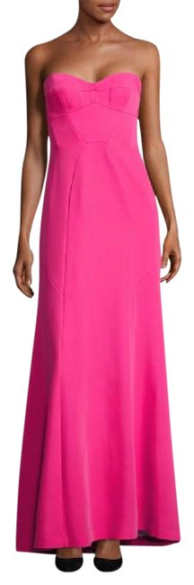 Item - Fuchsia Sweetheart Strapless Gown Long Cocktail Dress Size 8 (M)