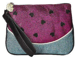 Betsey Johnson Watermelon Glitter Kitch Wristlet Pouch Rare Multi-Color Clutch