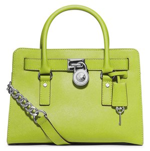 MICHAEL Michael Kors Pear Saffiano Leather East West Hamilton Tote in Green