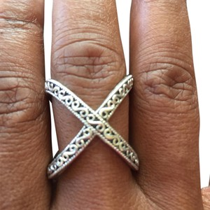 Samuel B. Artisan silver crisscross open back ring
