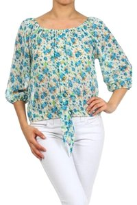 MOA USA Floral Off Top Blue